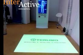 Интерактивный киоск и интерактивный пол для компании Терумо