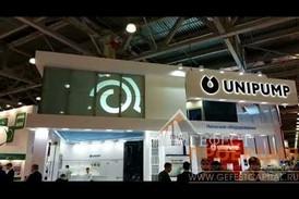 "Компания Гефест Проекция произвела установку комплекса ""проекционная витрина"" на стенд компании Unipump"