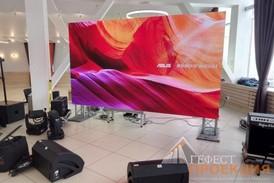 Аренда светодиодного экрана Р3 для компании Philip Morris International в г.Новосибирске 21 марта 2018г.