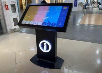 Интерактивные столы с системой навигации в город Новосибирск в мебельный центр Большая Медведица