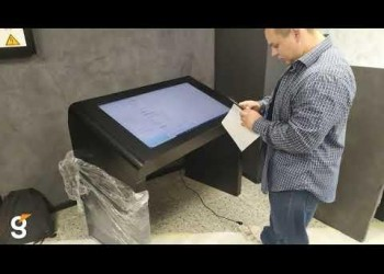 Интерактивный стол Defal Air 43 для компании Москабель.